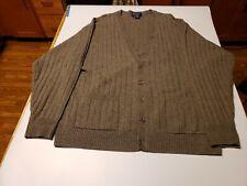 Pendelton Mens Wool Cardigan XL 100% Virgin Lambs Wool Gray