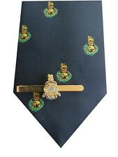 Royal Marines Cap badge Motif Tie & Tie Clip Set