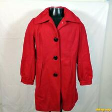 GEORGE Wool Jacket Coat Womens Size M (8/10) Red NEW NWT