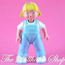 Fisher Price Loving Family Dream Dollhouse Blonde Girl Doll in Blue