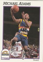 FREE SHIPPING-MINT-1991-92 Hoops #51 MICHAEL ADAMS NUGGETS