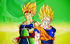 """Bardock and Goku 22X34""""( Huge Gloss Wallposter ) - FAST SHIPPING"""