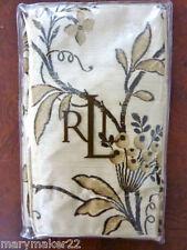 Nip $175 Ralph Lauren King Pillow Sham Plage D'Or Champagne Floral 100% Cotton