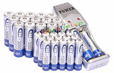 16 AA + 16 AAA 1000mAh 3000mAh 1.2V NI-MH BTY Rechargeable Battery + USB Charger