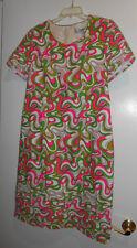 christian alta moda dress mod green hot pink  small / medium