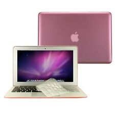 """3 in 1 Crystal PINK Hard Case for Macbook Air 11"""" A1370 + Key Cover + LCD Screen"""