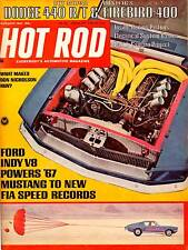 HOT ROD FEB 1967,DODGE 440,FIREBIRD 400,1967 MUSTANG,FEBRUARY HOTROD MAGAZINE