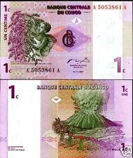 CONGO AFRIQUE BILLET 1 CENTIME 1997 P80 VOLCAN UNC NEUF