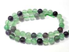 Green Purple Fluorite Smooth Round Balls Beads 8x8mm-15 Inch Strand 48 Piece