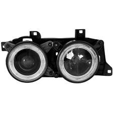 2 x Scheinwerfer für BMW E32 E34 88-92 Angel Eyes black / schwarz 1017597