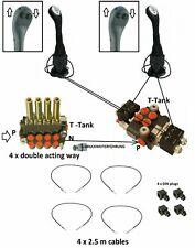 HYDRAULIC KIT VALVE 6 FUNCTIONS 2 Joysticks 80 l/min + valve 12V 21gpm
