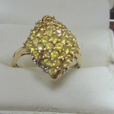 9ct Gold Yellow Sapphire Dress Ring, Size P. Weigh 4.5g Hm 375, 1.50ct Appx