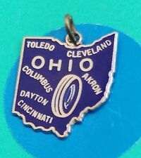 Charm R9 Ohio State Sterling Silver Vintage Bracelet