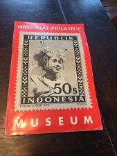 Vintage National Philatelic Museum Indonesia Stamps Magazine 1950