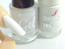 Gel Smalto Super Color Bianco Gesso French + Top Coat Semipermanente No UV