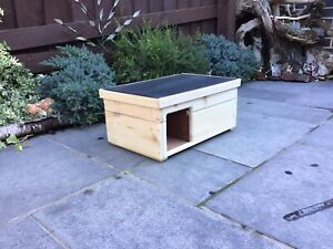 Hedgehog House Wooden Handmade Hibernation Home
