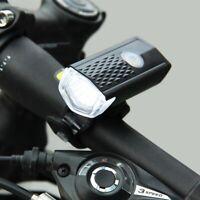 Luz frontal de bicicleta recargable USB Faro de ciclismo bicicleta LED Q6Z2