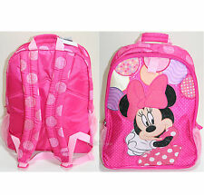 Princess Minnie Mouse Backpack Book Bag Tote Pink Polka Dots Disney Store NWT