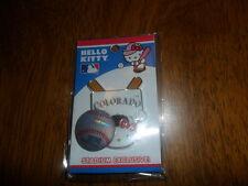BRAND NEW Colorado Rockies Hello Kitty Home Plate Stadium Exclusive Pin HTF