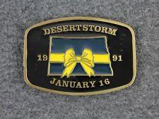 Operation Desert Storm Yellow Ribbon North Dakota Belt Buckle Johnson Promotions