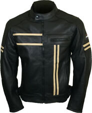 Leather Vintage Cruiser Retro Motorbike Motorcycle Jacket New Racer- ALL SIZES