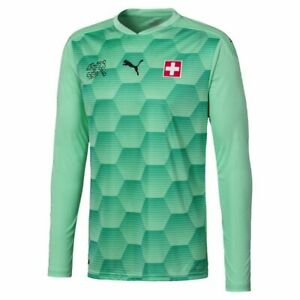 Puma Suisse Switzerland Mens Goalkeeper GK Long Sleeve Jersey Shirt 2020 2021
