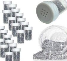 Silber Glitzerpulver 10 Tube Glitter Glimmer Streudose Puder Deko Nail Art 10stk