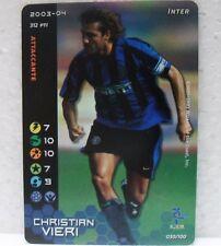 FOOTBALL CHAMPIONS Italiano 2003-04 - CRISTIAN VIERI foil - 030/100 INTER