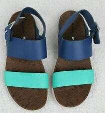 Merrell Poseidon Leather Slingback Sandals Blue/Teal Select Grip Women Sz 8 EU39