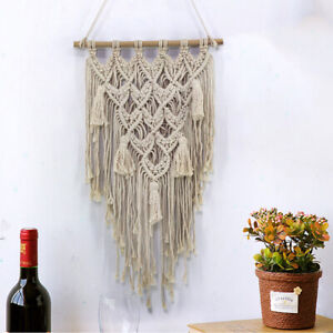 Boho Hand Woven Wall Hanging Tapestry Pendant Home Garden Backdrop Party Decor