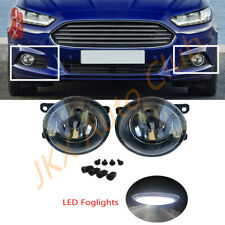 Clear Bumper LED Bulb Fog Lights Driving Lamps 1Set k For Ford Fusion 2013-16
