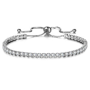 Genuine 925 Sterling Silver Adjustable 5mm Ball Bead Slider Bracelet Chain