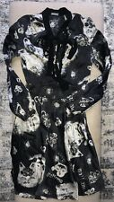 John Galliano Logo Signed Silk Dress Sz 24/38/2/4