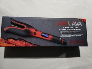 Chi Lava 1″ Volcanic Lava Ceramic Pro Spin N Curl Iron  (Authentic) Brand New