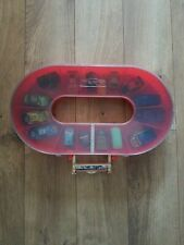 """Disney Pixar Cars The Movie Race Track Car Carrier 18""""x10"""" Hold 16 Vehicles Used"""