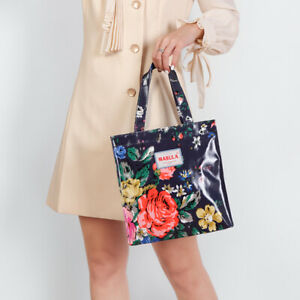 Women Retro Floral Printed Simple Shoulder Handbag Waterproof Shopping Bag