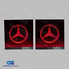 1 Paar MERCEDES LKW LED Schilder für die Frontscheibe -15cm x15cm - RGB Licht !!
