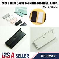 Slot 2 Dust Protect Cover Black/White For Nintendo DS Lite & Game Boy Advance US