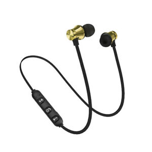 Magnetic Bluetooth Headphone Headset Stereo Earphone Wireless In-Ear Earbuds