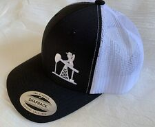 Yupoong SnapBack Cap The Classics Oilfield Drilling Rig Tower Black White Hat