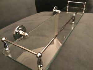 Heritage Gallery Bathroom Shelf chrome & glass.