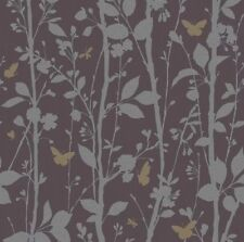 Fine Decor Wallpaper Dazzle Leaf Black Silver & Gold Glitter FD40929