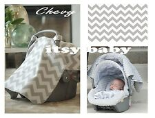 THE WHOLE CABOODLE CARSEAT CANOPY BABY CAR SEAT COVER 5 PC SET NEW ~ CHEVY ~