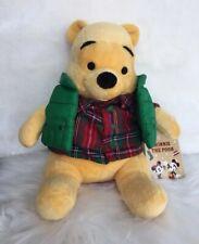 "9"" NWT Disney Store Fall Autumn Cozy Vest Pooh Bear Plush"