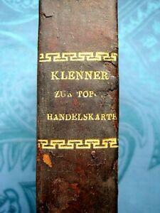 HANDBUCH HANDELSKARTE TOPOGRAPHIE ÖSTERREICH MONARCHIE 1833 HALBLEDER KARTE RAR