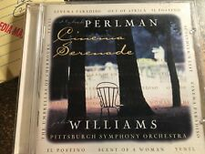 CD PERLMAN   WILLIAMS  PITTSBURGH  SYMPHONY  ORCHESTRA    CINEMA SERENADE