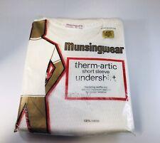 Vtg Thermal Short Sleeve Undershirt Therm-Artic Munsingwear Usa New Nos Xl 46-48