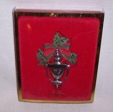In Original Box Lenox Christmas Ornament 2002 Bless This Home Door Knocker