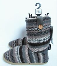 Muk Luks Womens Crochet Button Low Slipper Shoes Sz 5/6 NWT