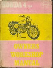 Honda 4 750 1970-1974  Haynes Owners Workshop Manual 1974 FAIR CONDITION ONLY